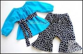 Turkuaz çocuk pijaması