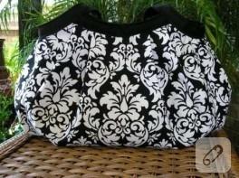 Siyah & Beyaz Kumaş Çanta