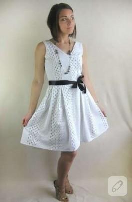 Beyaz yazlık elbise