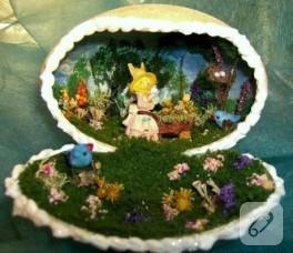 Minyatür renkli bahçe