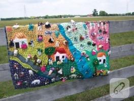 Köy temalı duvar dekoru