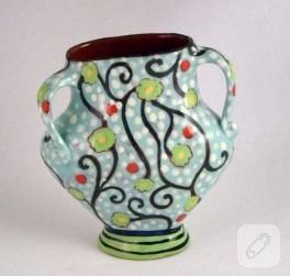 Küçük bir el işi,boyama vazo