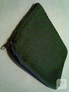 Makrome ipinden laptop çantası