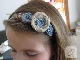 Kumaş Güllerle Saç Aksesuarı