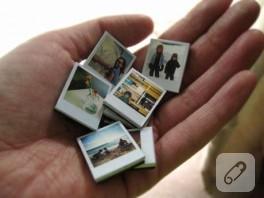 Polaroid buzdolabı süsleri