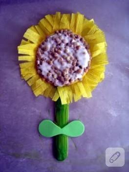 Çocuklarla Ayçiçeği Yapımı