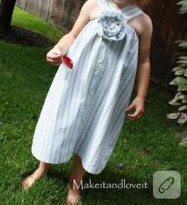 gömlekten cici çocuk elbisesi