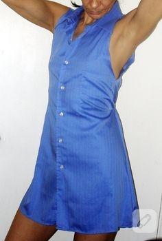 Eski gömlekten elbise…