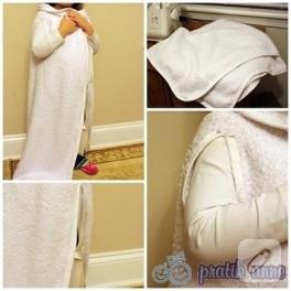 Basit kollu uyku battaniyesi