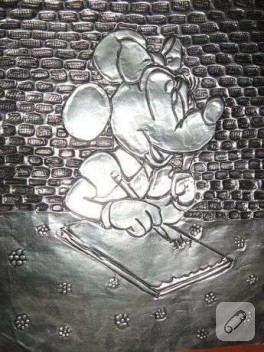 Alüminyum Folyo Mrs. Mickey Mouse