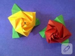 Rengarenk Kağıt Güller