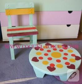 Boyama Masası ve Minik Sandalye
