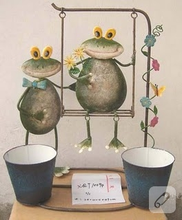 Kurbağalı Saksılar