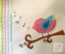 Bebek Odaları İçin Pano-4- minik kuş