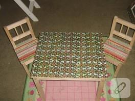 Kağıt kaplama masa-sandalye