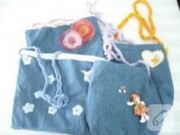 mutlu çocuklar için çanta- kot serisi