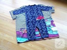 Eski kazağınızdan , tişörtünüzden bebek tulumu yapın!