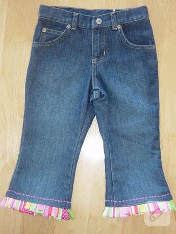 Как сделать капри из старых джинс своими руками