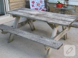 piknik masasının muhteşem yenilemesi