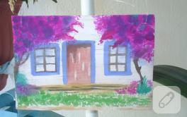 Sulu boya Bodrum Evleri