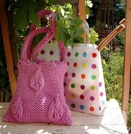 pembiş örgü çanta