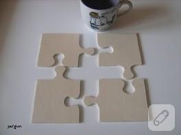 puzzle bardak altlıkları / nihale