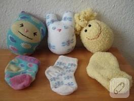 çoraplarla sevimli şeyler:)