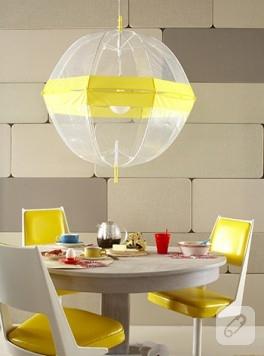 Şemsiyeden sarkıt lamba yapalım