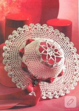 dantelden dekoratif şapkalar