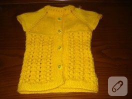 Sarı Bebek Yeleği