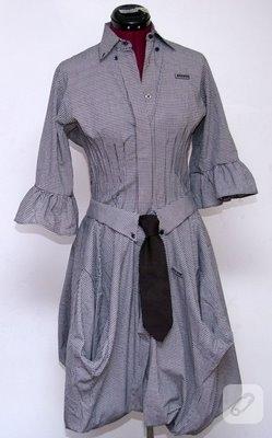 İki Gömlekten Bir Elbise Yapımı