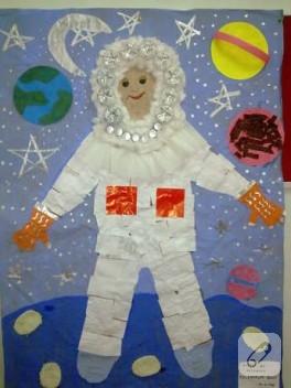 Uzay'da bir astronot