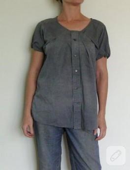 gömlekten bluza dönüşüm
