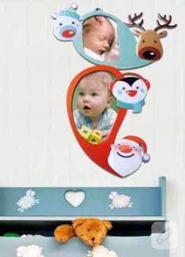 Bebek odaları için tatlı mı tatlı sevimli mi sevimli fotoğraf çerçevesi