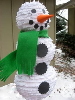 Bu kardan adam ne ile yapılmış?