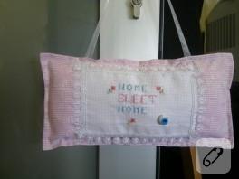 """""""Home Sweet Home"""" (Etamin Yastık)"""