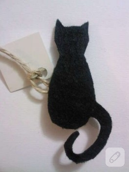 Kedi broş-bıyık magnet