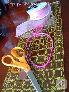 Saç bandı ve kurdele ile kolay tütü yapımı