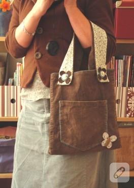 keçe ile süslenmiş bayan çanta