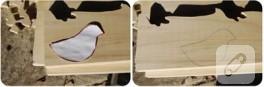 Çocuklar için tahta kuş yapımı
