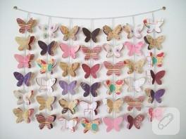 Kelebekli duvar süsü…