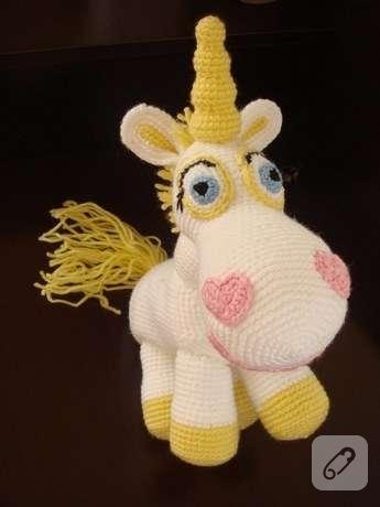 Amigurumi Toy Story : Amigurumi Toy Story 3 Karakteri Unicorn Buttercup Tamamen ...