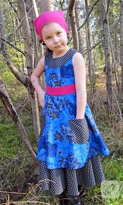 Kız çocuk elbisesi dikimi