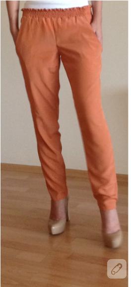 Kolay pantolon dikimi