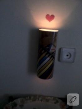Resim defterimin kaplığından gece lambası