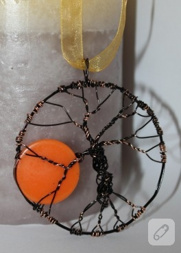 Ağaç temalı kolyem (gün batımı)