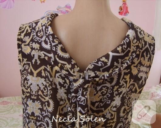 Kravat yaka bluz