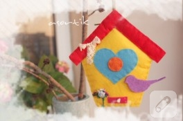 Keçe kuş evi
