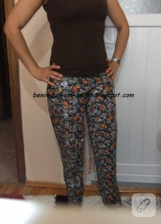 Kalıpsız pijama pantolon