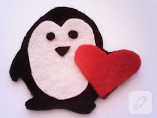 Keçe penguen magnet